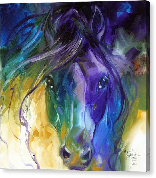 Blue Roan Abstract Canvas Print