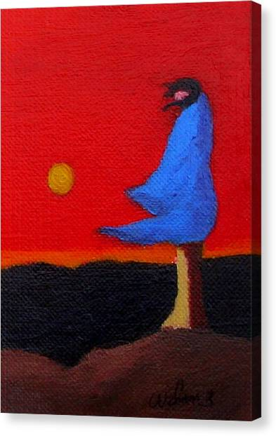 Blue Robe Canvas Print