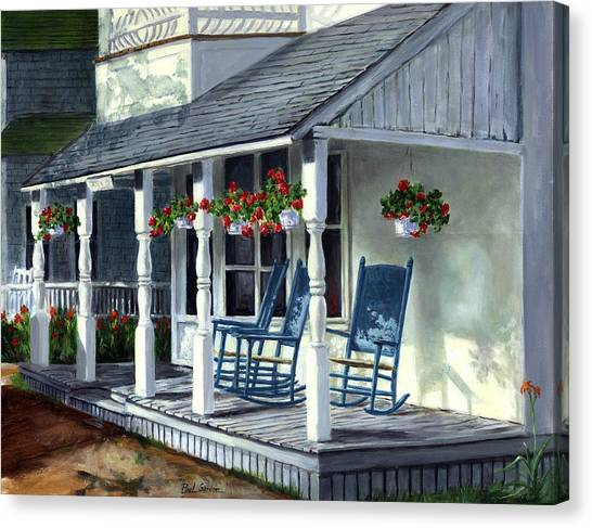 Marthas Vineyard Canvas Print - Blue Rockers by Paul Gardner