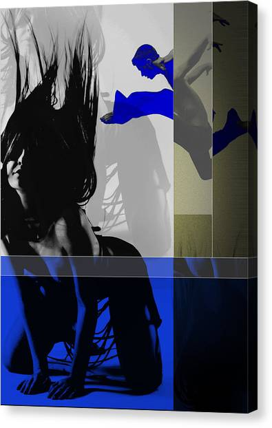 Costume Canvas Print - Blue Romance by Naxart Studio