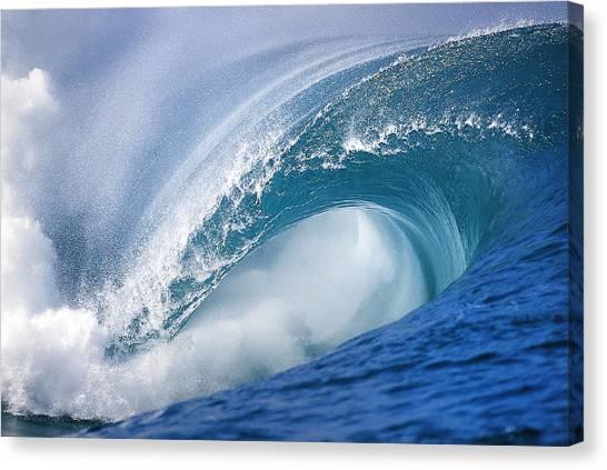 Tahiti Canvas Print - Blue Rush by Sean Davey