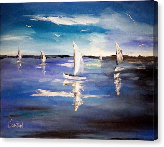 Blue Sailing Canvas Print