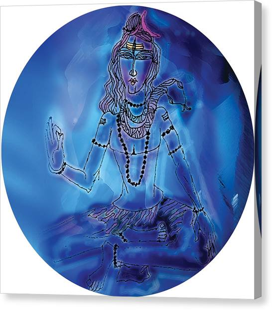 Blue Shiva  Canvas Print