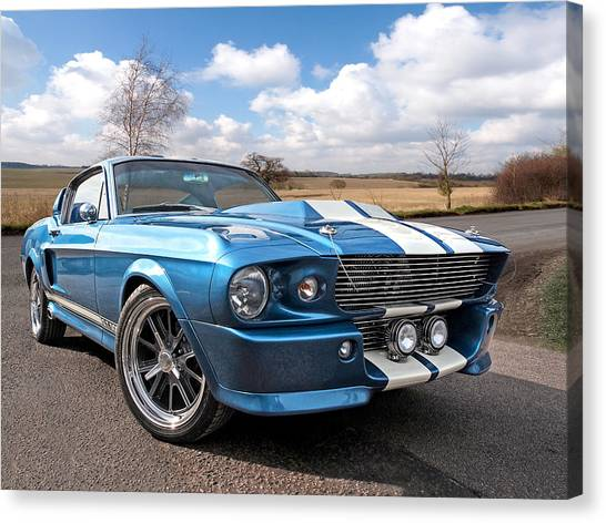 Blue Skies Cruising - 1967 Eleanor Mustang Canvas Print