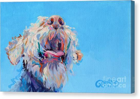 Tongue Canvas Print - Blue Skies by Kimberly Santini