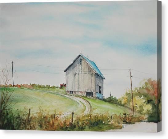 Blue Skies Canvas Print by Mike Yazel