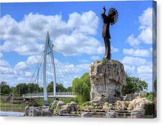 Blue Skies Over Wichita Canvas Print by JC Findley