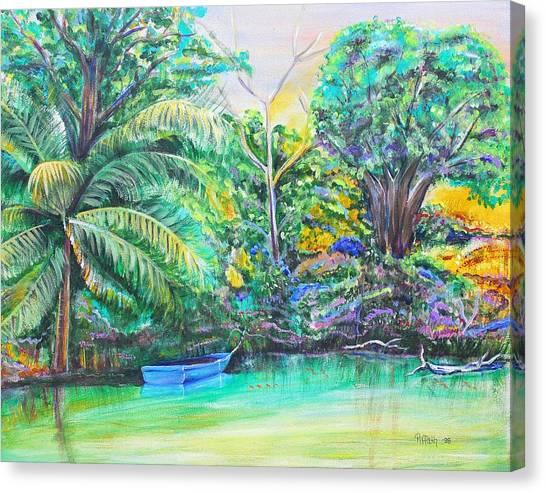 Blue Skiff Canvas Print