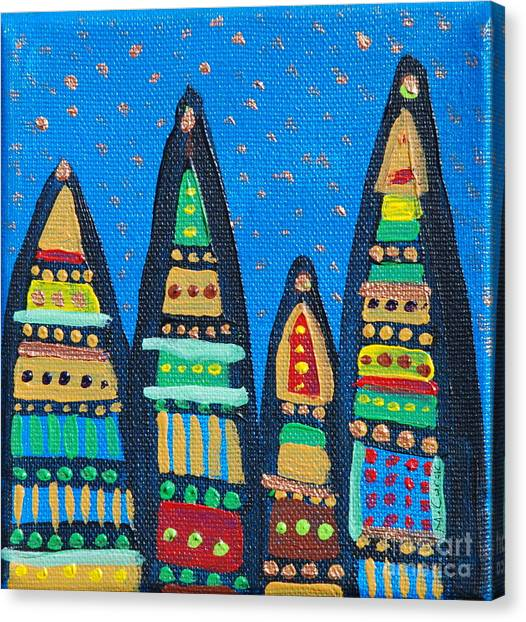 Blue Sky Catherdrals Canvas Print by Maria Curcic