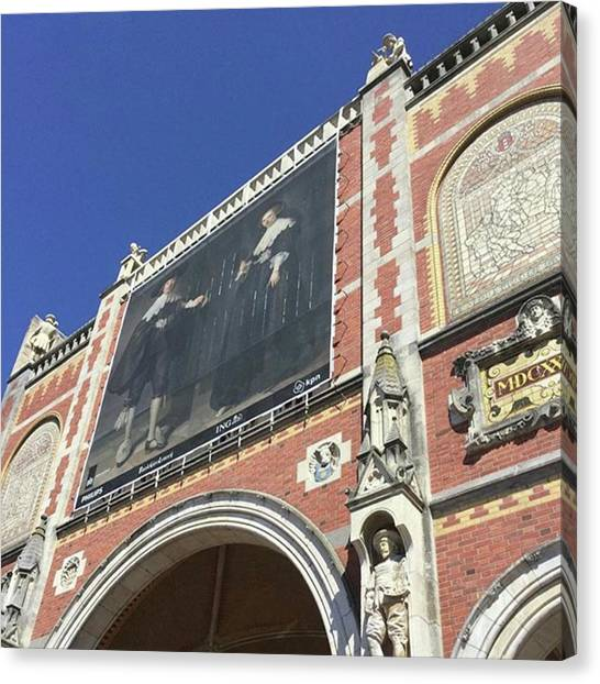 Lucky Canvas Print - #blue #sky #museum #explore #amsterdam by Lucky Pinky