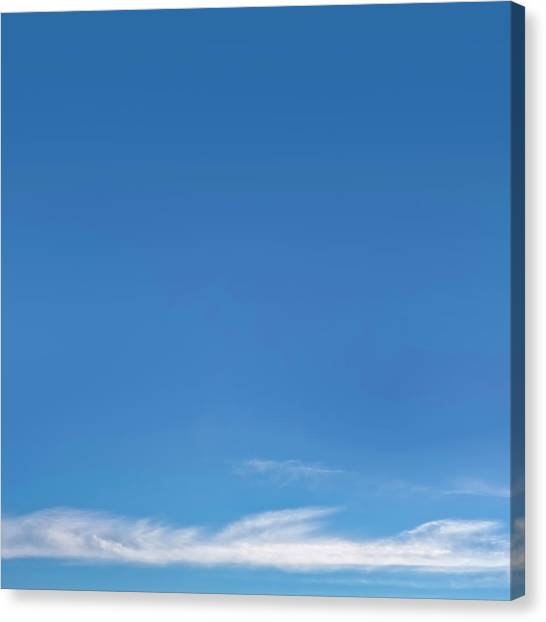 Sunny Day Canvas Print - Blue Sky by Scott Norris
