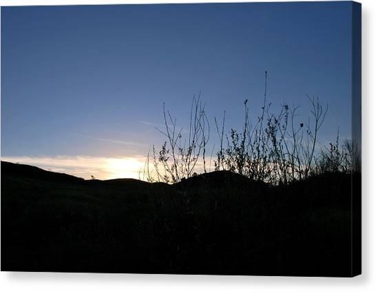 Blue Sky Silhouette Landscape Canvas Print