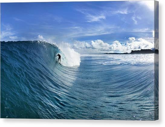 Anticipation Canvas Print - Blue Sling by Sean Davey