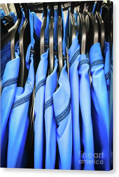 Protective Clothing Canvas Print - Blue Sports Tops by Tom Gowanlock
