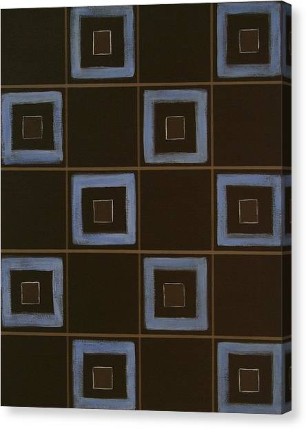 Blue Squares Canvas Print by Sandy Bostelman