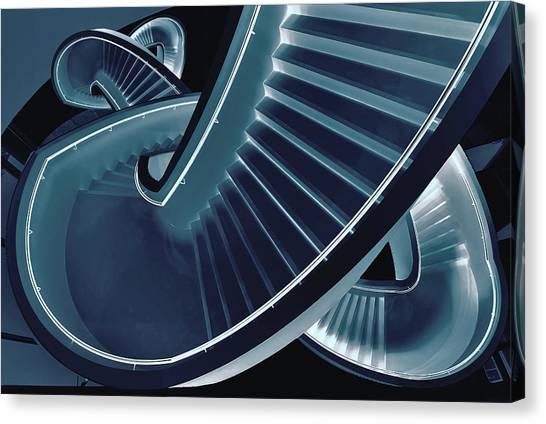 Museums Canvas Print - Blue Stair by Henk Van Maastricht