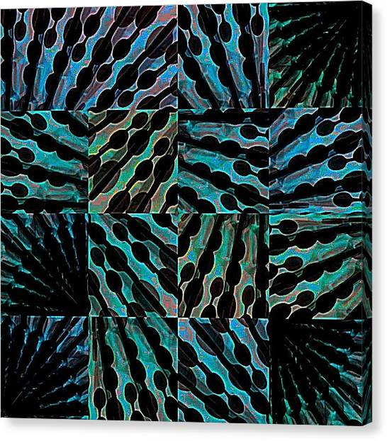 Blue Sticks Canvas Print