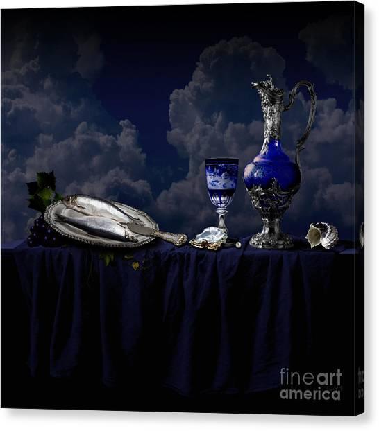 Canvas Print featuring the photograph Blue Still Life by Alexa Szlavics