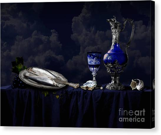Still Life In Blue Canvas Print