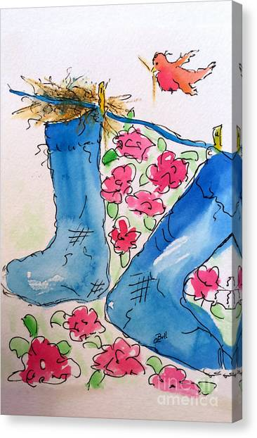 Blue Stockings Canvas Print