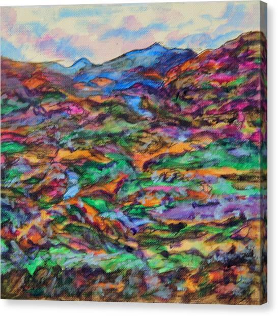 Blue Summit Canvas Print by Laura Heggestad