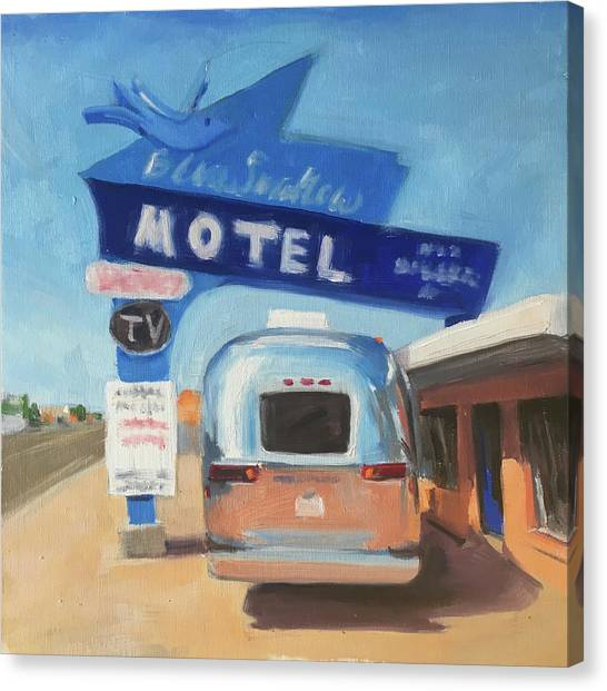 Blue Swallow Motel Canvas Print