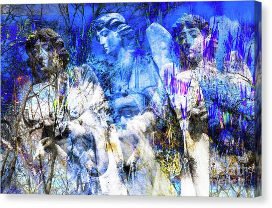 Blue Symphony Of Angels Canvas Print