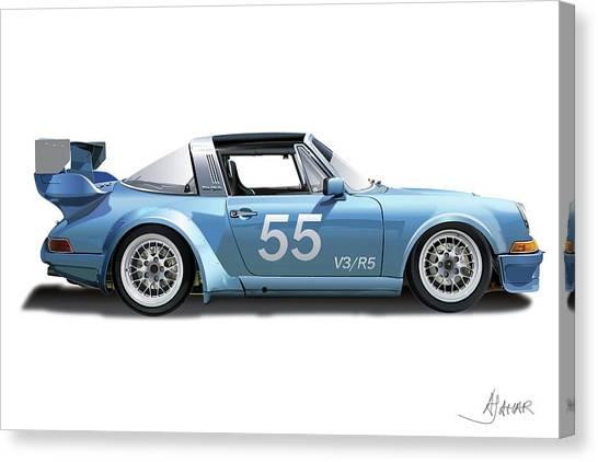 Blue Targa Canvas Print
