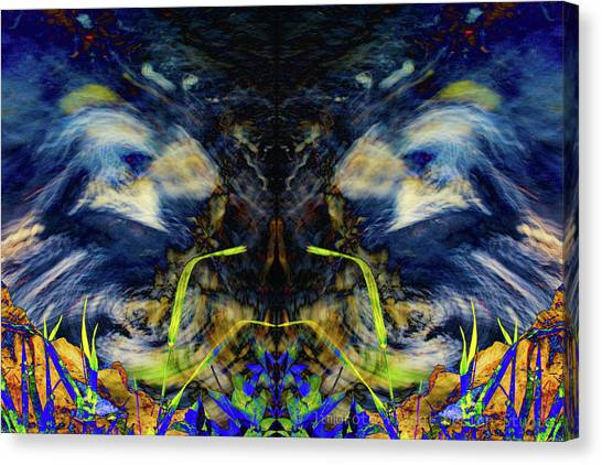Blue Tigers Devil Canvas Print