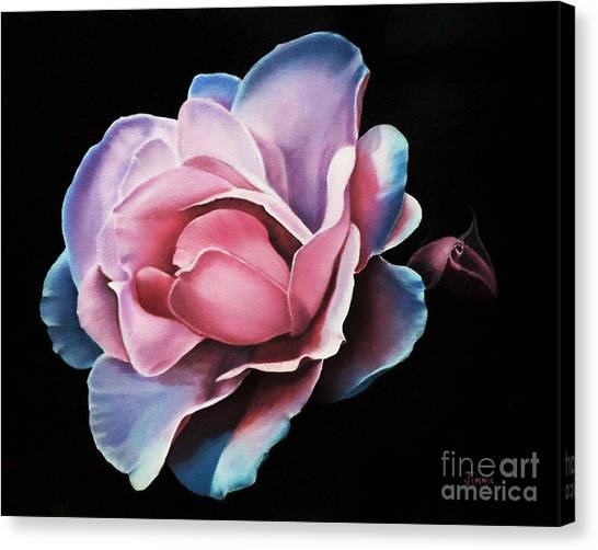 Blue Tipped Rose Canvas Print