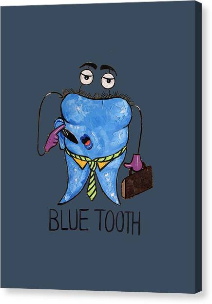 Cavity Canvas Print - Blue Tooth by Anthony Falbo