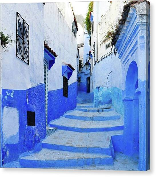 Blue Town(morocco) #mytravelgram Canvas Print by Seiji Hori