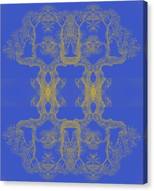 Blue Tree 14 Hybrid 4 Canvas Print