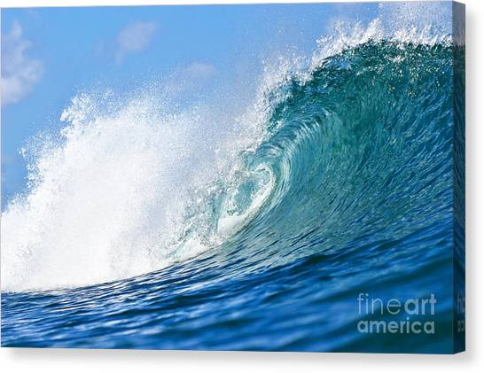 Blue Tube Wave Canvas Print