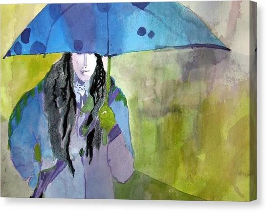 Canvas Print - Blue Umbrella by Jane Ferguson