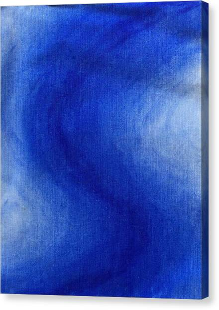 Blue Vibration Canvas Print