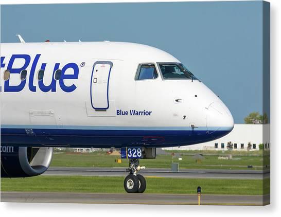 Jetblue Canvas Print - Blue Warrior by Guy Whiteley