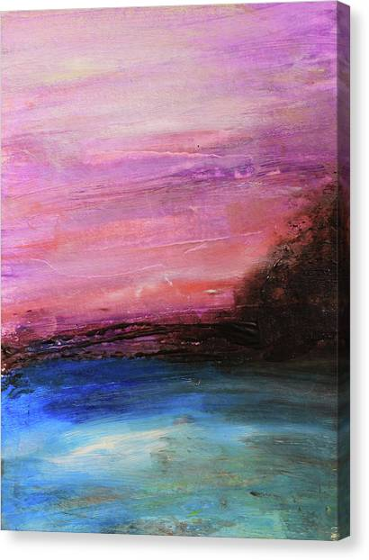 Blue Water Abstract Canvas Print