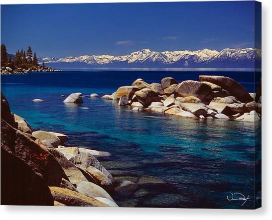 Lake Tahoe Canvas Print - Blue Water Lake Tahoe by Vance Fox