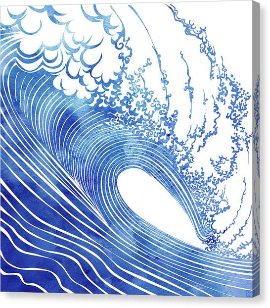 Wave Canvas Print - Blue Wave by Stevyn Llewellyn