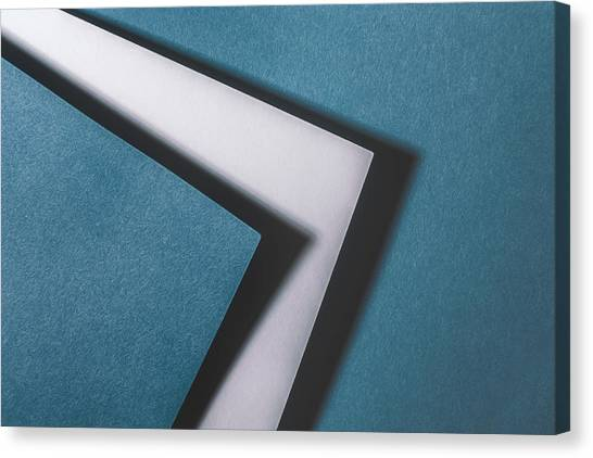 Composition Canvas Print - Blue White Blue by Scott Norris
