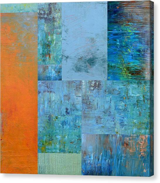 Blue With Orange 2.0 Canvas Print