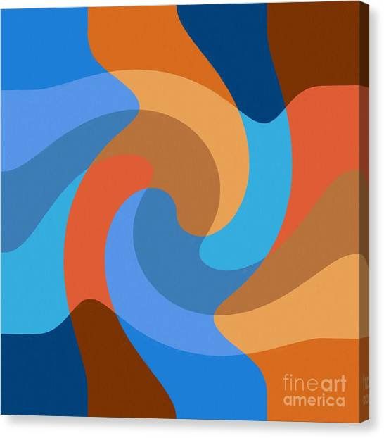 Blue Within Blue Canvas Print