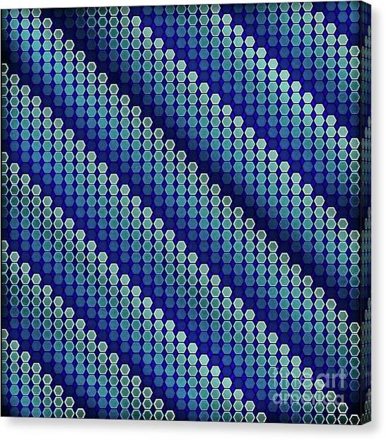 Canvas Print - Blue Zag by Lisa Marie Towne