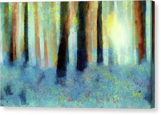 Bluebell Wood By V.kelly Canvas Print