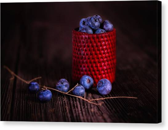 Blueberries Canvas Print - Blueberry Delight by Tom Mc Nemar