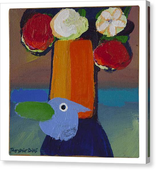 Bluebird Canvas Print by Rogerio Dias