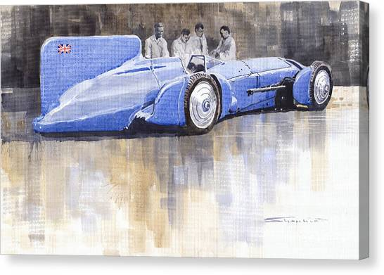 Bluebird Canvas Print - Bluebird World Land Speed Record Car 1931 by Yuriy Shevchuk