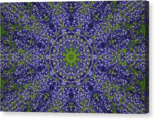 Bluebonnet Lace Kaleidoscope Canvas Print