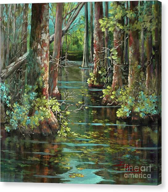 Bayous Canvas Print - Bluebonnet Swamp by Dianne Parks